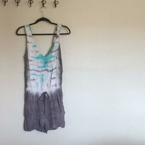 Young, Fabulous and Broke Romper Tie dye